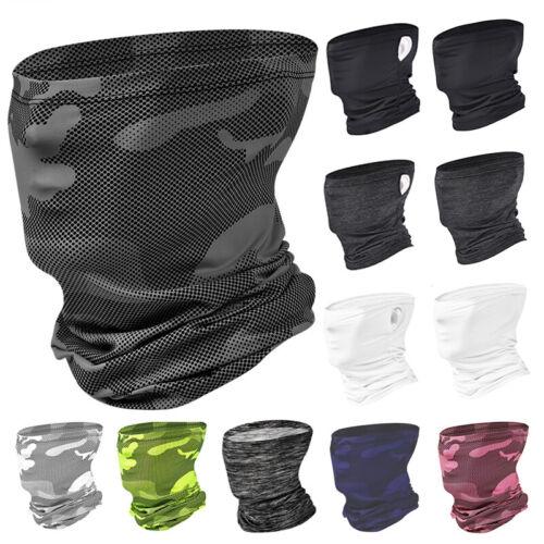 Cooling Face Scarf Sun Shield Neck Gaiter Camo Face Mask Balaclava Bandana Tubes