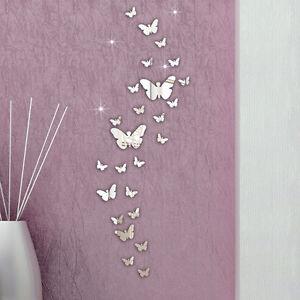 30 piezas mariposa combinaci n 3d espejo adhesivos de for Decoracion hogar 3d