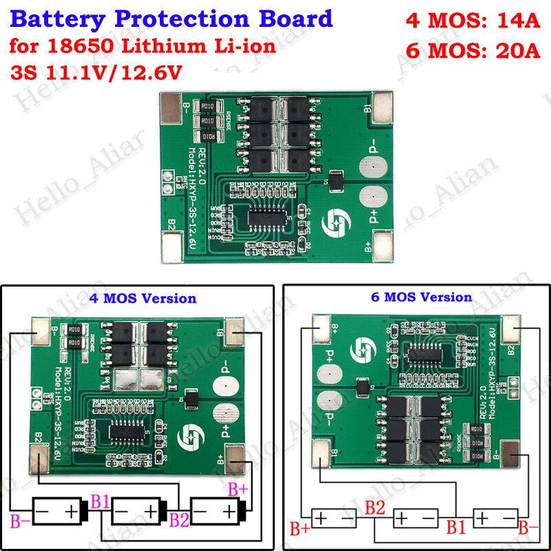 3S 11.1V 12.6V Lithium Li-ion Lipo 18650 Battery Charger Charging Module 13V-22V