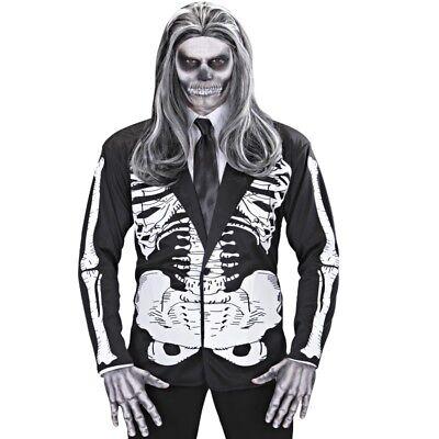 Jack Skelett Kostüm (SKELETT JACKE Herr Kostüm Gr. M/L 50/52 - Halloween Karneval Knochen Tod  #526S)
