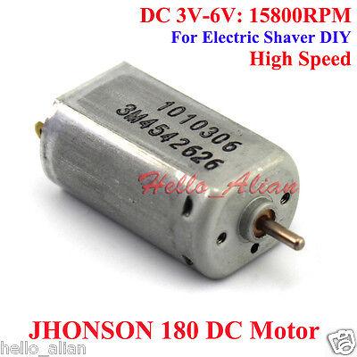 Dc 3v-6v 15800rpm High Speed Johnson Micro 180 Motor 2mm Shaft Diameter