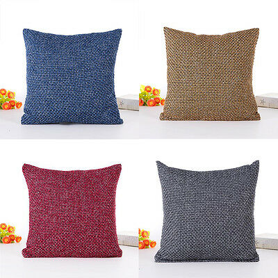 New Vintage Cotton Linen Pillow Case Sofa Waist Throw Cushion Cover Home Decor