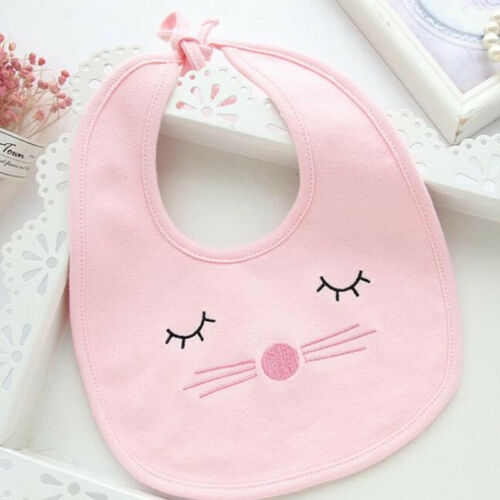BL/_ FP AU/_ Baby Cotton Bibs Waterproof Saliva Towel Bib Feeding Burp Apron Band