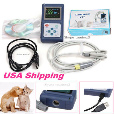 VET animal pulse oximeter Veterinary SpO2 monitor with Tongue Ear probe+USB Hot for sale  USA