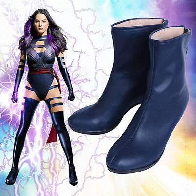 Hot Cakes  X-men Psylocke Cosplay Costume Shoes Women's high heel Boots