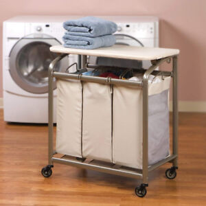Laundry Hamper Sorter with Folding Table