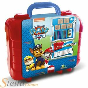 Paw Patrol Childrens Art Travel Colouring & Ink Stamp Set