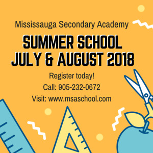 MSA Summer School Credit Courses