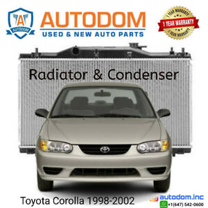 New Condenser and Radiator Toyota Corolla 1998-2002