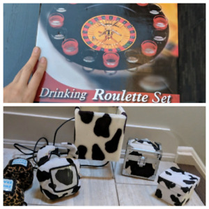 Drinking roulette game $5. Animal print decor all for $10!