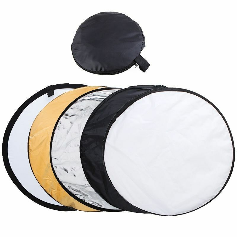 """24"""" 5 in 1 Photography Studio Multi Photo Disc Collapsible Light Reflector USA"""