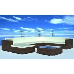 Wicker Rattan Garden Sofa Setting Lounge Couch Furniture Brown 24 PCS Bonbeach Kingston Area Preview