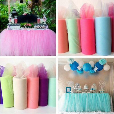 Diy Tulle Tutu (DIY Tulle TUTU Table Skirt Tableware Wedding Party Baby Shower Birthday)