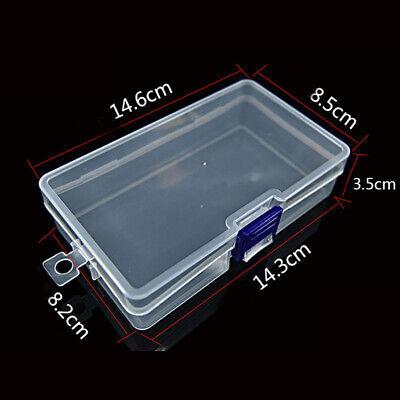 UK Plastica Trasparente Gioie Perlina Conservazione Scatole Contenitori Inserti