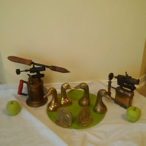 2 NOW 1ANTIQUE BRASS TORCH + BRASS BOOK ENDS*** SEE EACH PRICE *
