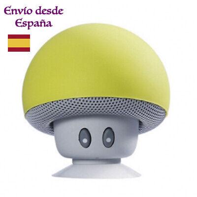 Altavoz bluetooth seta verde amarilla ventosa mini portable smartphone musica
