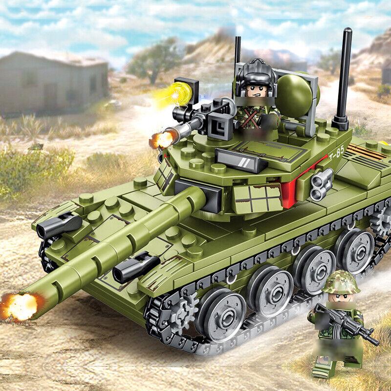 324pcs Military Main Tank Building Blocks with WW2 Soldier Figures Toys Bricks