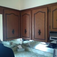 Kitchen upper cabinets and pantry for sale.