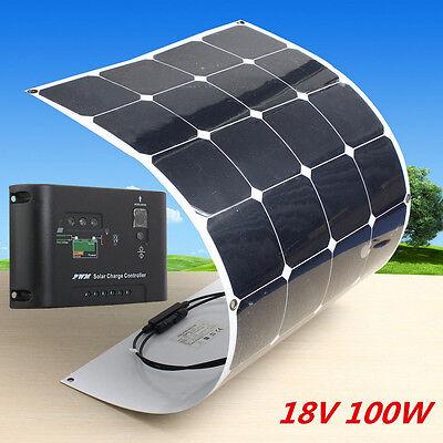Sunpower Chip 100w 18v Mono Ultra-light Flexible Solar Panel With 10a Controller