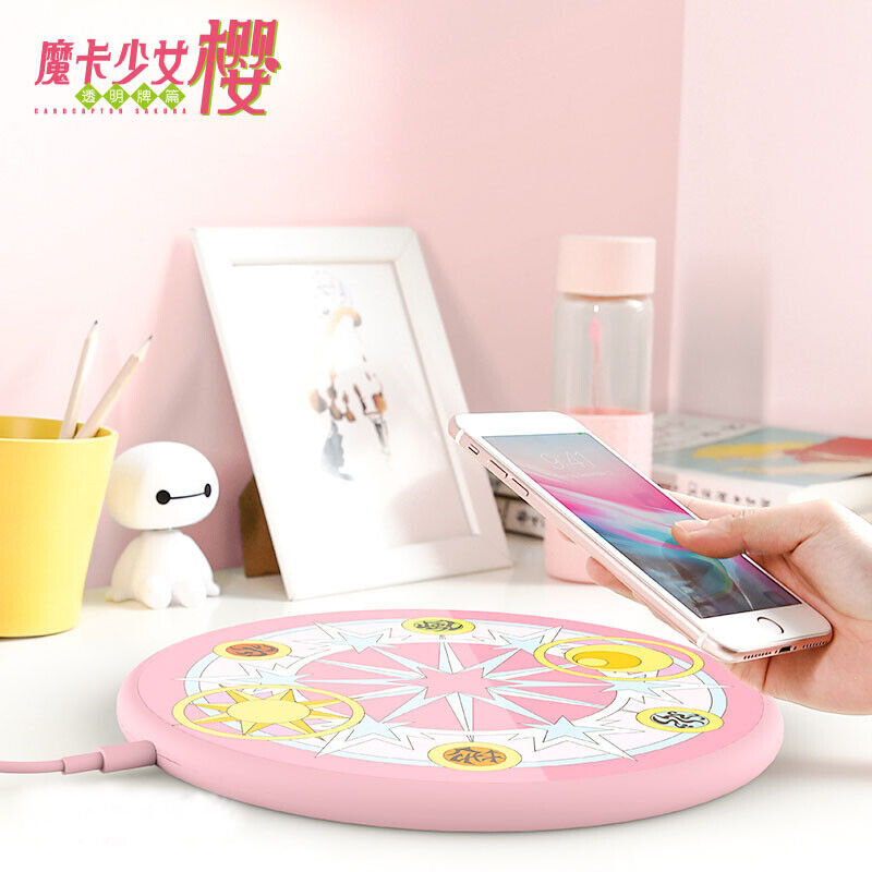 cardcaptor sakura clow cards MAGIC CIRCLE wireless charger Fast Charge sailor mo