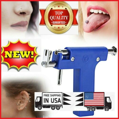 Professional Ear PIERCING GUN body Nose Navel Tool Kit set jewelry 98 studs USA