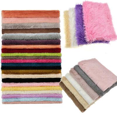 A4 Half Yard 1 Yard Faux Fur Plush Winter Fabric Sewing Home Sofa Decoration USA