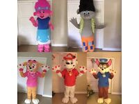Mascot visits for kids parties