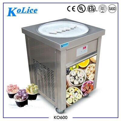 Kolice Commercial Single Round Pan Fry Ice Cream Roll Machine
