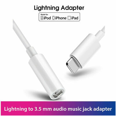 For Apple iPhone Xs X 8 7 Adapter Jack Audio Headphone Lightning 3.5mm Adaptor