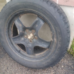 Winter Tires 225 55 R17 97s and steel rims