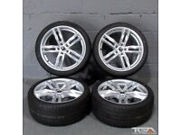 "New 19"" Silver RS6-C Style Alloys for an Audi B8 & B9 Audi A4"