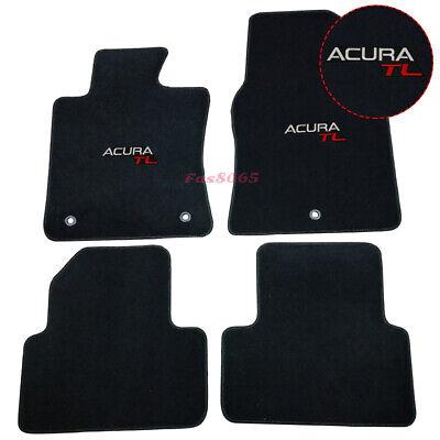 Fits 09-14 Acura TL 4Dr Nylon Floor Mats Carpets Front & Rear Black