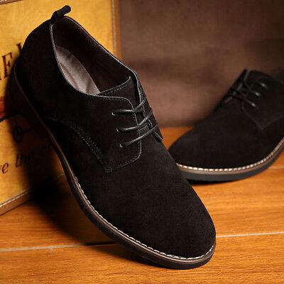 Plus Size Men Casual Leather Shoes Oxfords Suede Mens Flats Fashion Classic Shoe - Plus Size Men