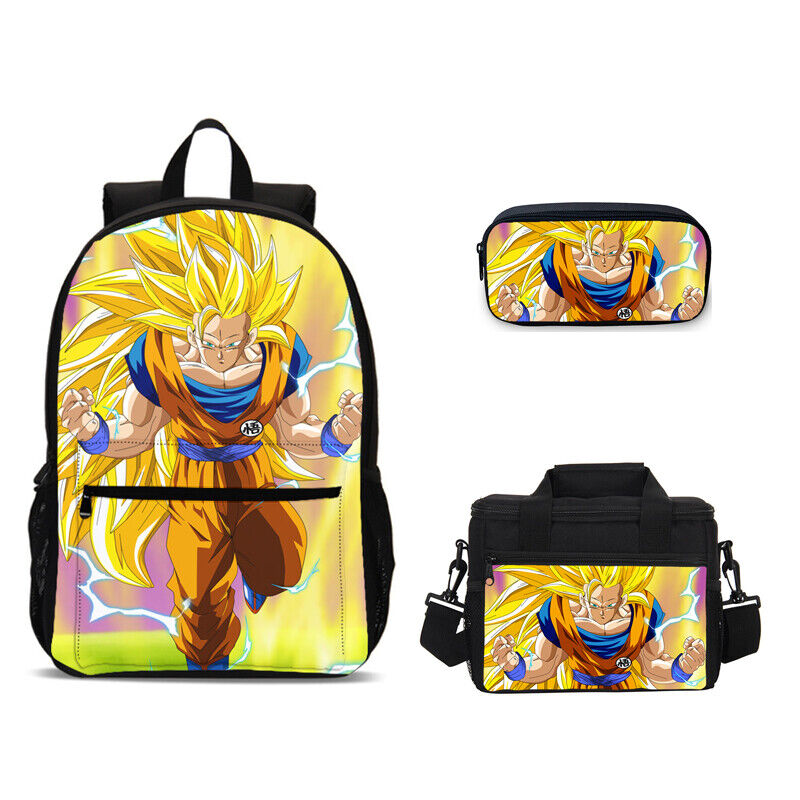 Dragon Ball Z Backpack Super Saiyan Son Goku Kids School Bag Set Sling Bag Lot