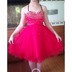 Red prom/semi dress strapped