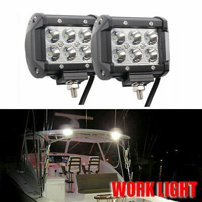 2x 12V 18W Spot LED Yacht Marine Boat Stair Deck Mast Lamp Marine Spreader Light for sale  Shipping to Canada