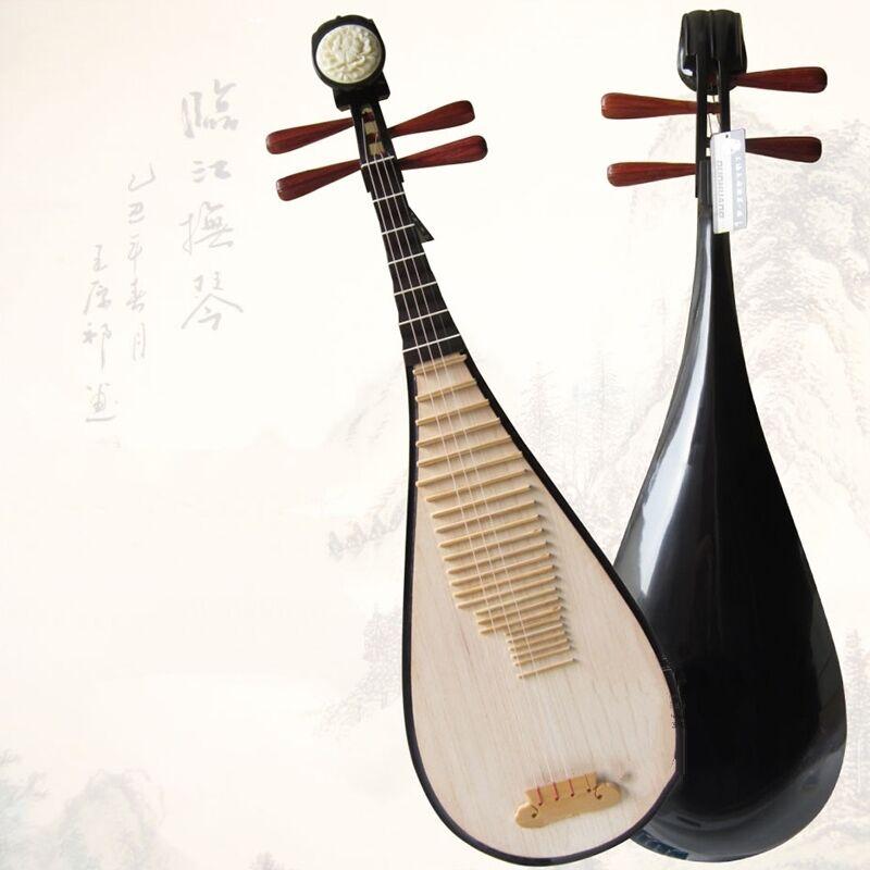 Luet Liuqin Chinese Soprano Pipa Lute Guitar Dun huang Musical Instrument #4085