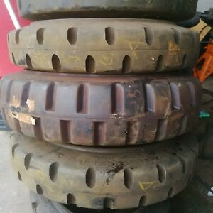 assorted fork lift tires smooth and grooved Kitchener / Waterloo Kitchener Area image 1