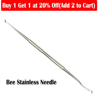 Stainless Dual Head Bee Needle Hive Queen Beekeeping Bee Rearing Grafting Tools