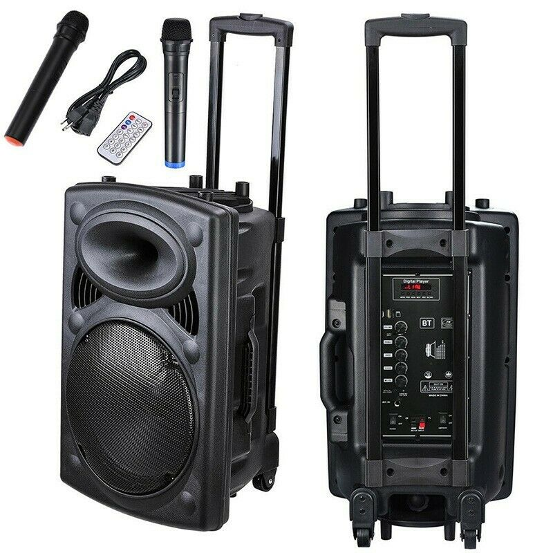 12in Professional Power Active 1500W DJ PA Speaker Bluetooth