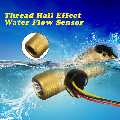 G12 Water Flow Sensor Thread Hall Effect Liquid Flow Switch Sensor Meter