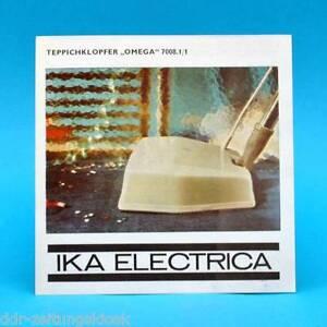 teppichklopfer omega 7008 1 1 ika electrica 1969 werbezettel werbung ddr ebay. Black Bedroom Furniture Sets. Home Design Ideas