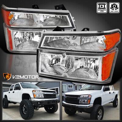 2004-2012 Chevy Colorado GMC Canyon Clear Headlights 4PC+Bumper Corner Lamps 07 Gmc Canyon Chevy