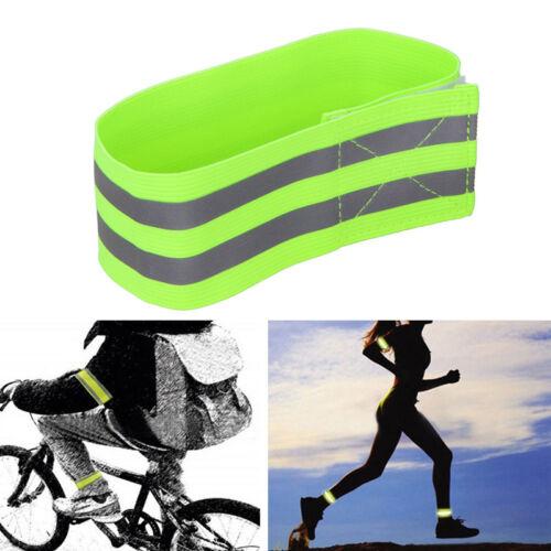 Cycling Bike//Bicycle Arm Leg Pant Reflective Band Strap Belt Safety Reflector