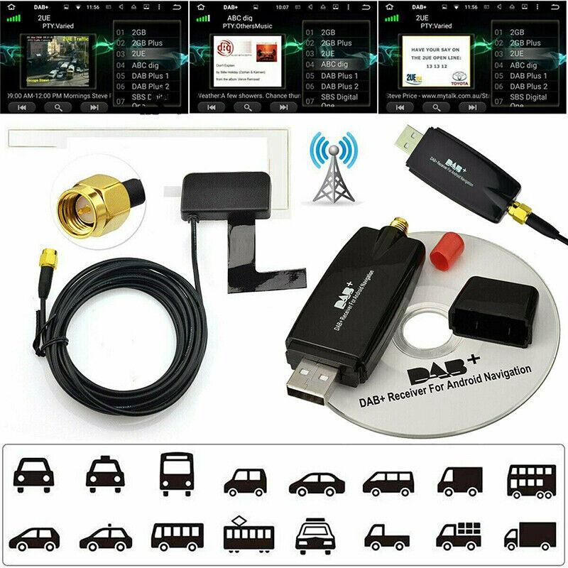 car dab antenna usb radio audio adapter