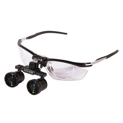 2.5x-3.5x Dental Medical Binocular Loupes Magnifier Antifogging Aluminum Frame