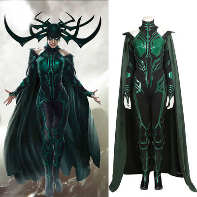 2017 NEW ARRIVALThor Ragnarok Hela Cosplay Costume Halloween Costume Any Size  - Superhero Halloween Costumes 2017