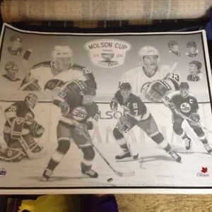 Winnipeg Jets Molson Cup Stars poster in mint condition