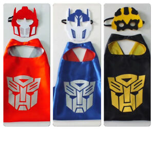 Brand New Transformers  Superhero Cape and Mask Costume  Sets