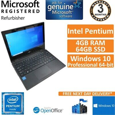 Acer TravelMate Spin B118 Pentium N4200 1.1GHz 4GB 64GB SSD Win10 Pro 11.6(B)